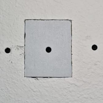 A picture of a drywall patch in Fremont CA.